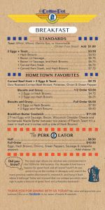 Coffee Pot Menu Page 1