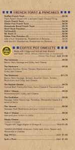 Coffee Pot Menu Page 2
