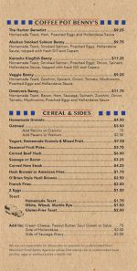Coffee Pot Menu Page 3